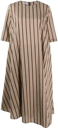 Brunello Cucinelli Striped Shift Midi Dress