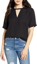 Lulus Simply Sophisticated Keyhole Cutout Top