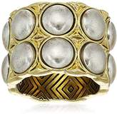House Of Harlow Nuri Statement Gold/ Silver Ring, Size 7