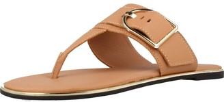Tommy Hilfiger Women's Flat Sandal Oversized Buckle T-Bar