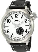 Vestal Men's CTN3L03 Canteen Dial Black Leather Watch