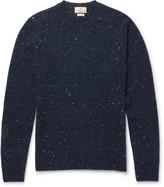 Hackett - Alcantara Elbow-patch Donegal Wool-blend Sweater