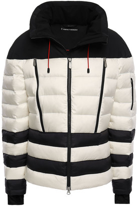 Perfect Moment Quilted Striped Shell Down Jacket