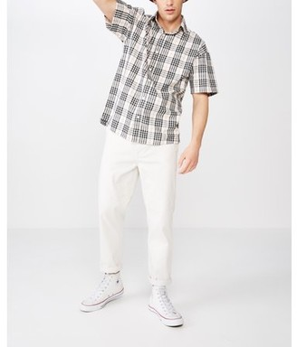 Cotton On Men's Box Fit Short Sleeve Shirt