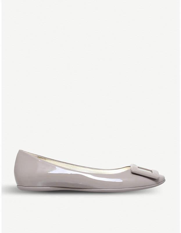 Roger Vivier Gommette slip-on patent-leather ballet flats