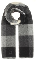 Balenciaga Checked wool and alpaca-blend scarf