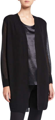 Lafayette 148 New York Finespun Voile Sheer Open-Front Cardigan