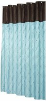 Carnation Home Fashions Diamond Patterned Embroidered Shower Curtain, 70-Inch by 72-Inch