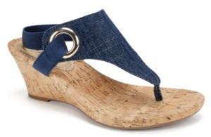 White Mountain Women's Aida Cork Wedge Sandals Women's Shoes