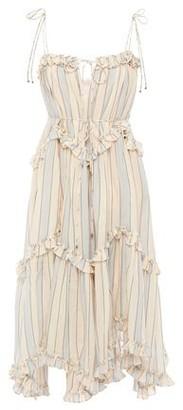 Zimmermann Ruffled Metallic Striped Cotton-blend Dress