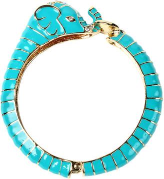 Amrita Singh Women's Bracelets Turquoise - Blue Crystal & Goldtone Elephant Bangle