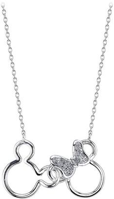 Disney Mouse Icon Diamond Necklace