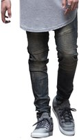 Feinste Men's Slim Fit Distressed Denim Biker Jeans