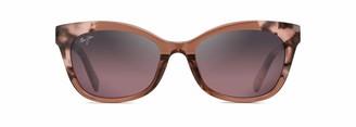 Maui Jim Ilima RS759-64 | Polarized Pink Tokyo Tortoise cateye Frame Sunglasses with with Patented PolarizedPlus2 Lens Technology