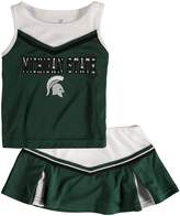 Colosseum Girls Toddler Green Michigan State Spartans Aerial Cheer Set