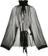 Ann Demeulemeester Ohara sheer blouse