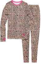 Asstd National Brand Cuddl Duds 2-pc. Leopard Pajama Set - Girls 4-16