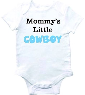 Design With Vinyl Baby Clothes mommy's little cowboy Bodysuit One-Piece Shirt Romper Creeper Outfit Novelty Romper Boutique Graphic With Sayings BOY Shortsleeve bab 246 3-6 Months