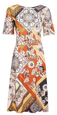 Dorothy Perkins Womens Tall Orange Paisley Print Dress, Orange