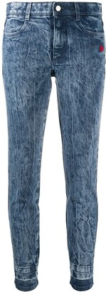 Stella McCartney Crinkled-Finish Skinny Jeans