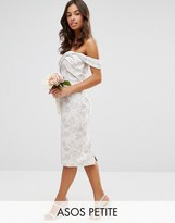 Asos WEDDING Jacquard Midi Pencil Dress