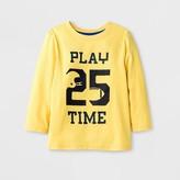 Cat & Jack Toddler Boys' Long Sleeve T-Shirt - Cat & Jack Gold