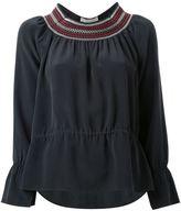 Vanessa Bruno embroidered neck blouse