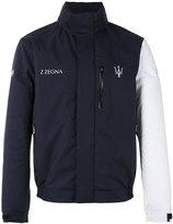 Z Zegna contrast sleeve Maserati jacket - men - Polyester - S