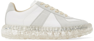 Maison Margiela White and Grey Caviar Replica Sneakers