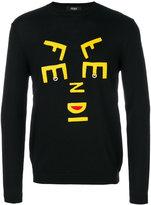 Fendi abstract letter jumper
