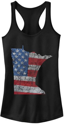 Juniors' Fifth Sun Minnesota American Flag Fill Muscle Muscle Tank