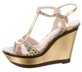Vince Camuto Multicolor T-Strap Wedges