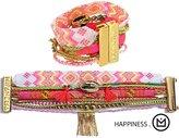 Hipanema Cord Steel Bracelet 17 cm, 73 hapiiness M