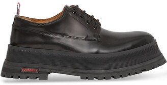 Burberry logo detail Derby shoes
