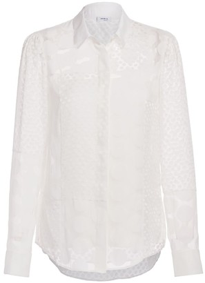 Akris Punto Mixed Polka-Dot Patch Blouse