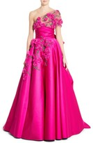 Marchesa Women's Embellished Tulle Wrap Ballgown