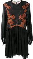 Chloé floral embroidered dress - women - Silk/Linen/Flax/Polyester - 38
