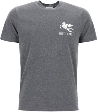 Etro Logo Print Crewneck T-Shirt