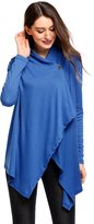 Meaneor Women's Long Sleeves One Button Open Front Wraps Soft Cardigan ( XXL)
