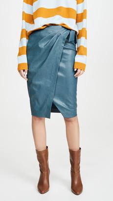 Rebecca Taylor Vegan Leather Skirt