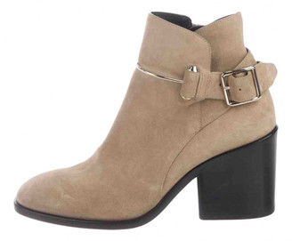 Balenciaga Beige Suede Ankle boots