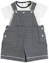 Armani Junior Cotton Jersey Body & Poplin Overalls