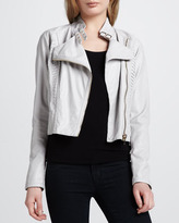 Blank Faux-Leather Jacket