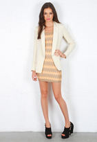 Pencey Palm Blazer in Champagne