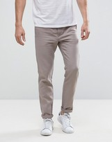 United Colors Of Benetton Slim Fit Chino In Linen