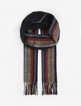 Paul Smith Central Artist striped cashmere scarf