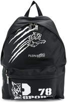 Plein Sport logo print backpack