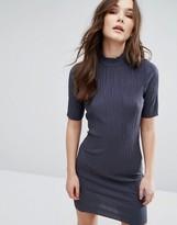 Vila 3/4 Sleeve High Neck Dress