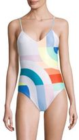 Mara Hoffman Meridian Classic One-Piece Colorblock Swimsuit