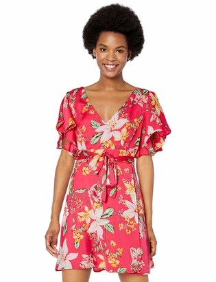 BB Dakota Women's Trending Tropic Printed Dress